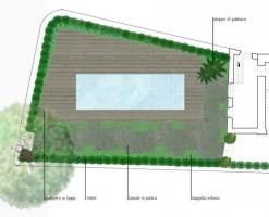 Giardino villa privata taormina messina planimetria zona piscina daniele spitaleri - Progetto giardino privato ...
