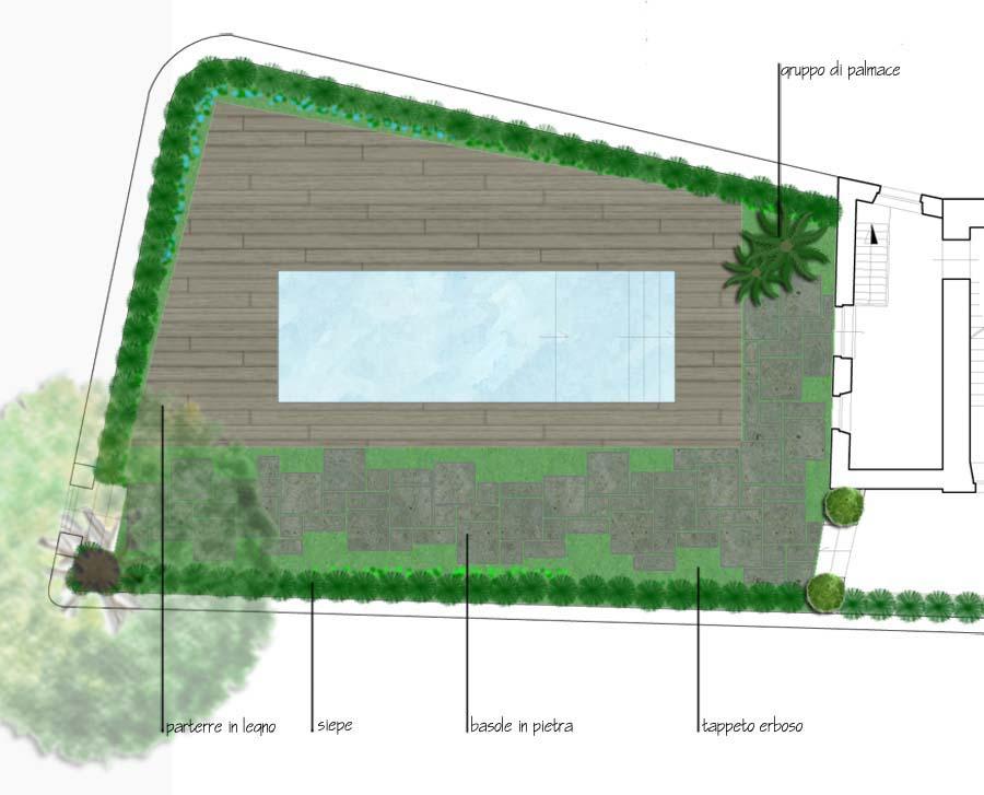 Giardino villa privata taormina messina planimetria zona for Planimetria giardino