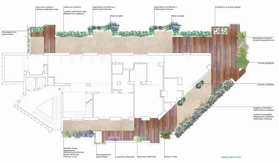 progetto terrazzo residenza nobiliare, Palermo pianta piano 9 ...