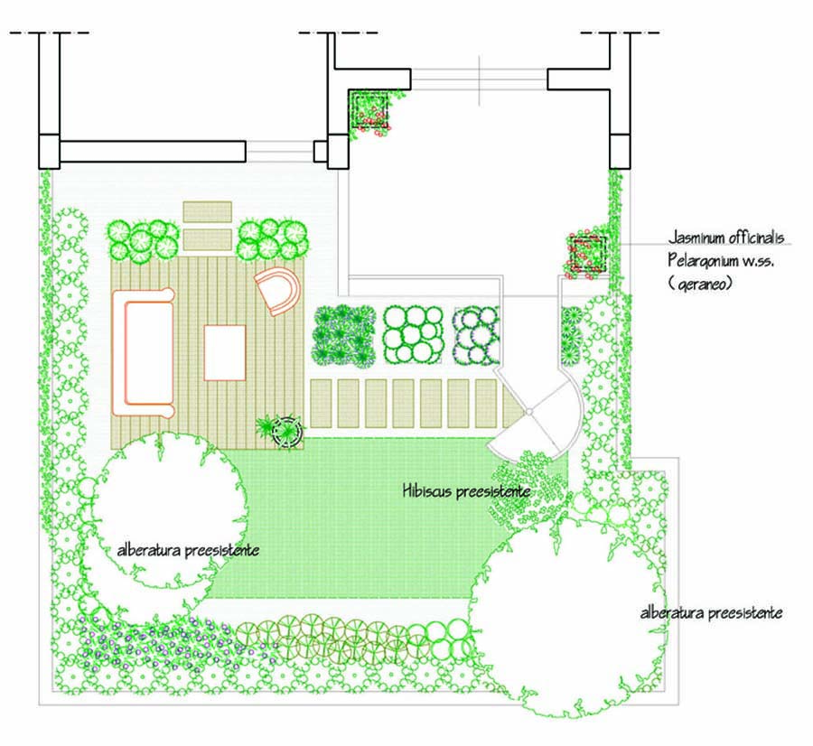 Progetto giardino privato with giardino progetto for Planimetria giardino